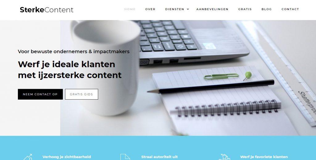 AIDA-model-voorbeeld-homepage
