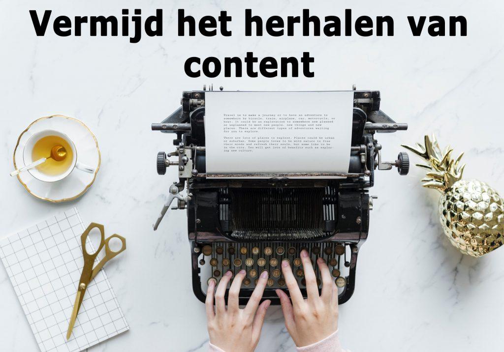 succesvol bloggen doe je door geen gerecyclede content te gebruiken