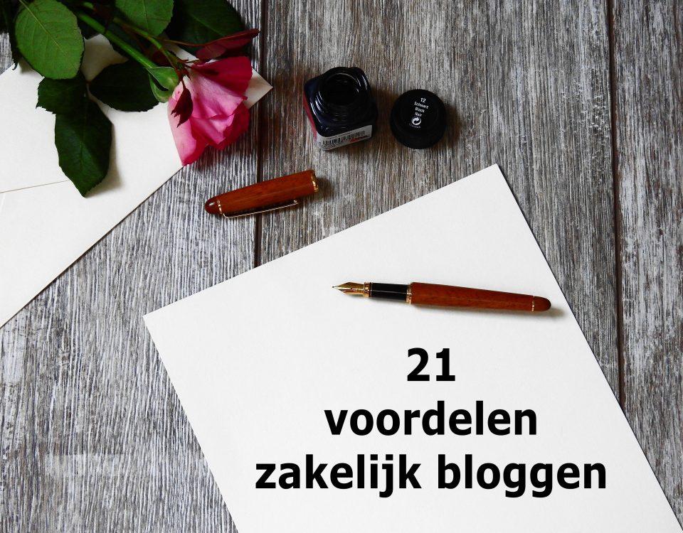 Hier zijn 21 voordelen van zakelijk bloggen